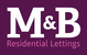 M&B Residential Lettings logo
