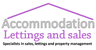 Accommodation Lettings and Sales logo