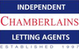 Marketed by Chamberlains - Lettings