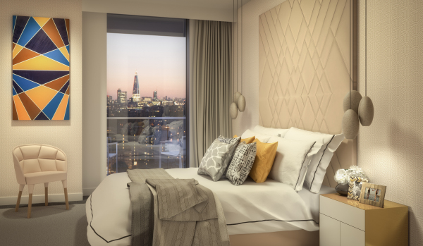 Bedroom at Maine Tower.
