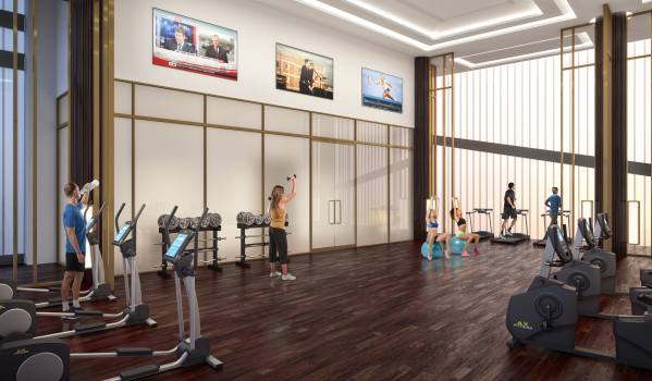 The gym at Harbour Central.