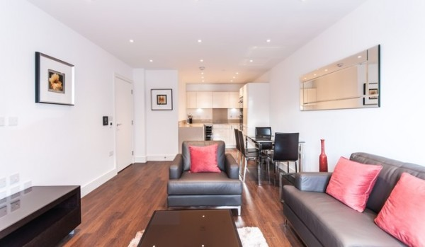 Two bedroom flat in a new development.
