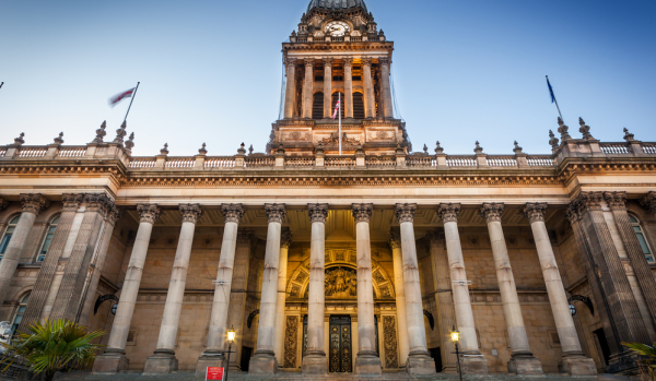 The town hall in Leeds.