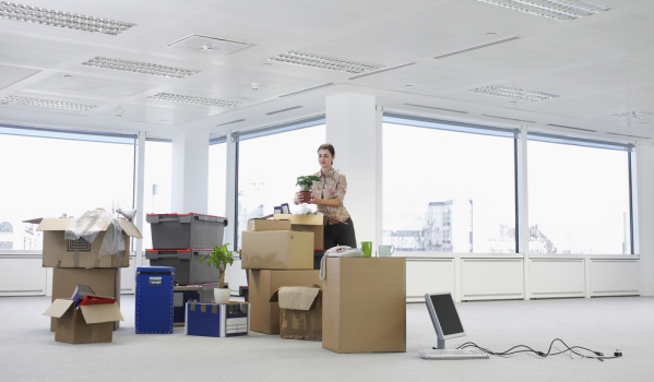 Moving offices.