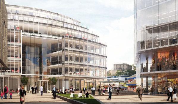 Commercial development in Nottingham.