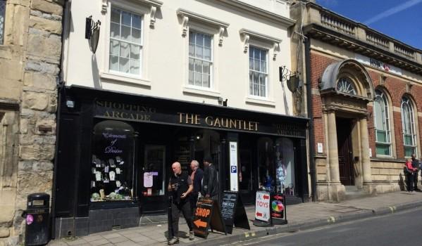 Shop on the high street in Glastonbury.