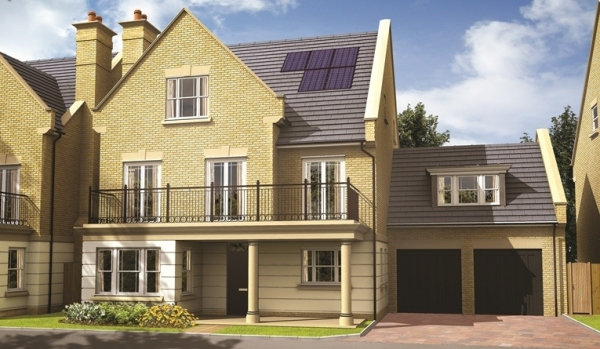 New build homes in Sunbury-on-Thames.