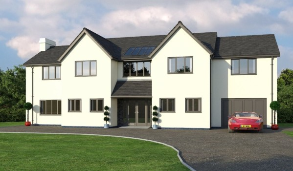 New-build homes in Wirral.