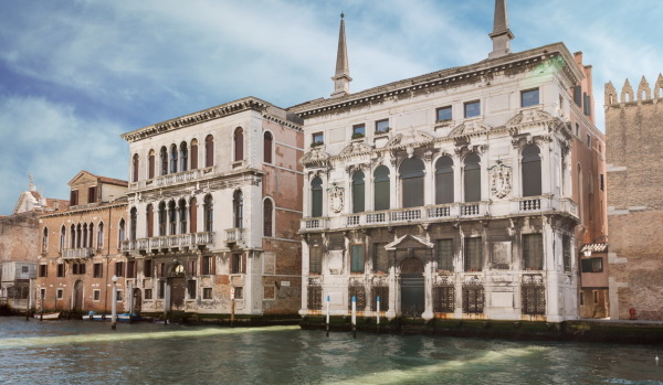 Houses on the water in Venice.