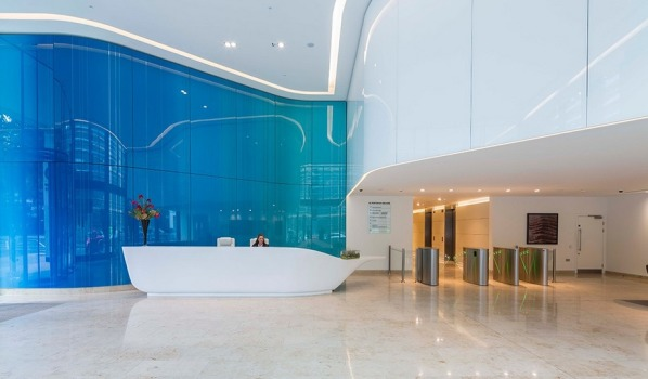 Reception in central London office.
