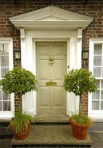 beige front door