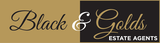Black and Golds Estate Agents Logo