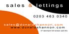 Donald Shannon Estate Agents, SE5