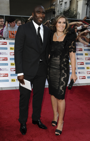 Sol Campbell and his wife Fiona.
