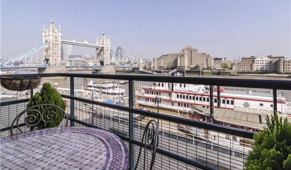 View of Tower Bridge and the River Thames from two bedroom flat in Southwark