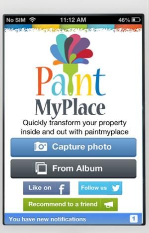 Paint my Place interior design app.