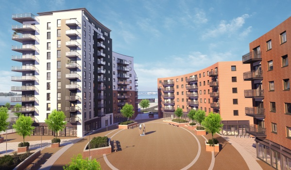 Radian Homes in Centenary Quay, Woolston, Southampton