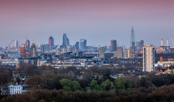 View from of skyline from London Square Putney