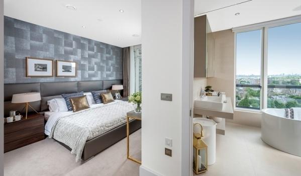 London Square Putney bedroom and bathroom