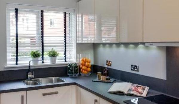 Modern kitchen at Wye Dean.