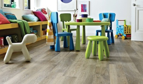Limed oak flooring.