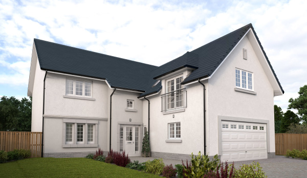New build house in Bridge of Don, Aberdeen.