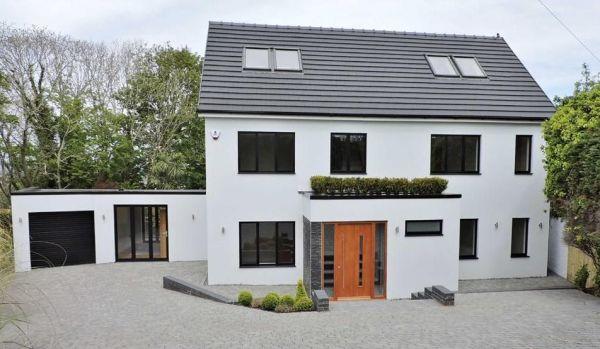 Modern new house in Swansea.