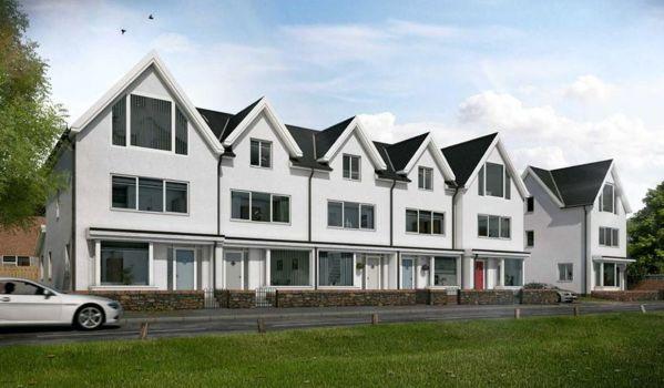 New build homes in Swansea.