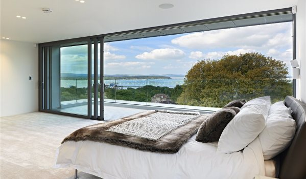 Sea views from Blake Hill Crescent in Poole.