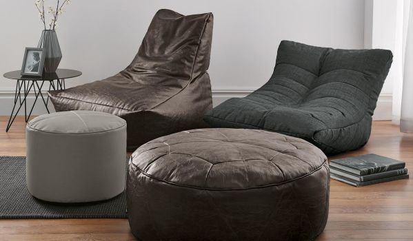 Bean bags and floor cushions.