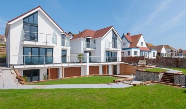 Coastal homes in Brighton.