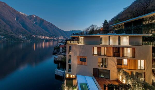 New-build homes on Lake Como.