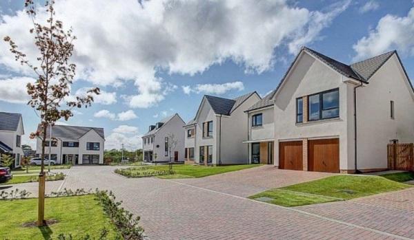 A new housing development in Glasgow.