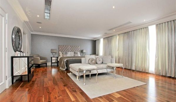 Modern interior in the bedroom.