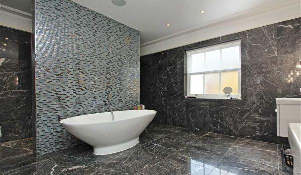Futuristic-looking bathroom.