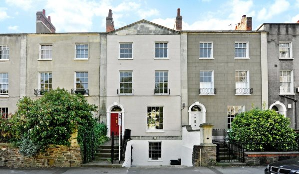 Houses on Gordon Road in Clifton, Bristol.