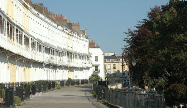Iconic Royal York Crescent in Bristol.