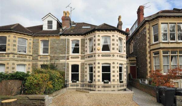 Houses on Salisbury Road in Bristol.