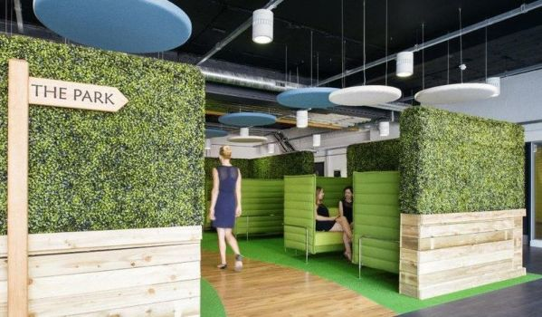 Quirky fit-out.
