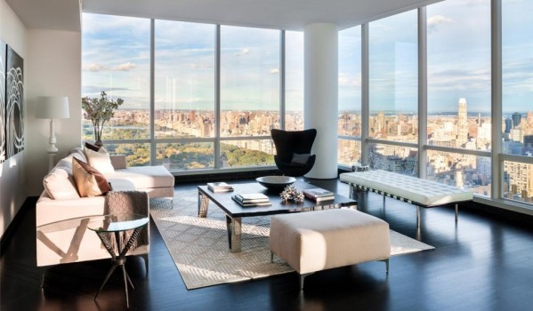New York apartment overlooking Central Park