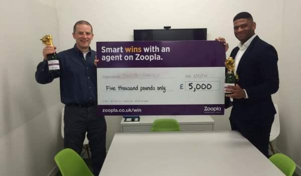 Zoopla prize winner David Harold