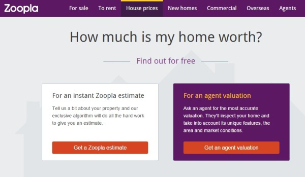 Zoopla home valuations
