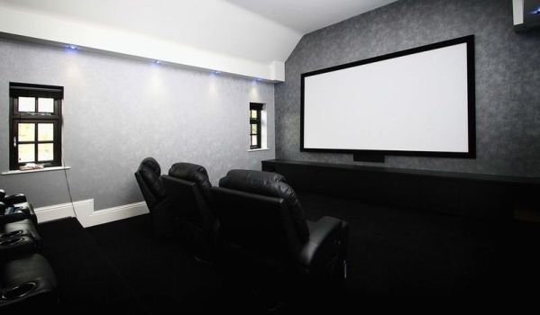 cinema room in a loft conversion