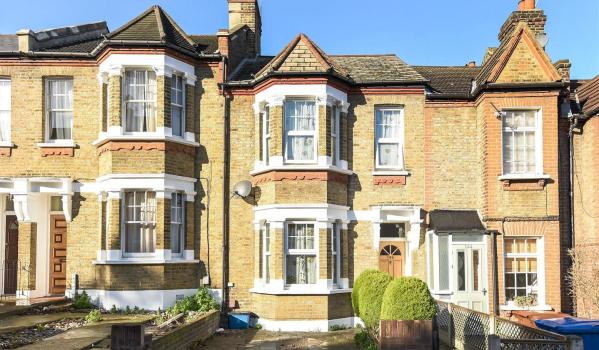 Mid terrace Victorian property.