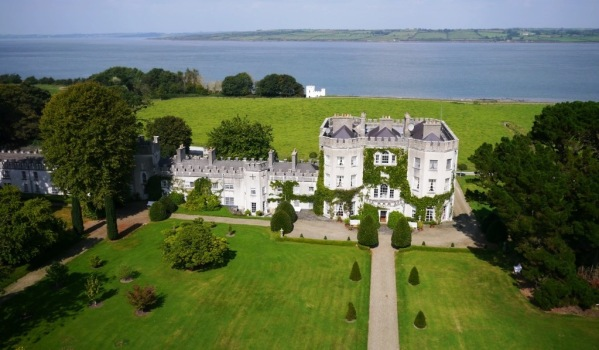 Historic Irish castellated mansion with views over the Shannon Estuary