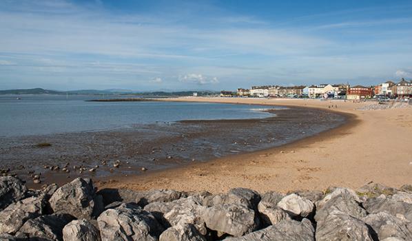 Sandy beach on the Lancashire coastline