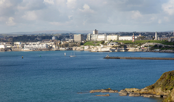 Plymouth Hoe and light house