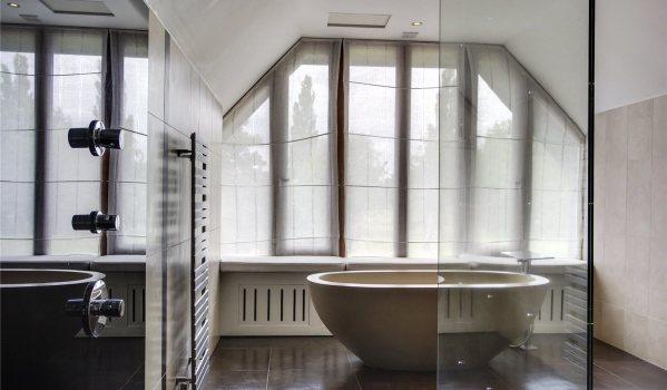Bathroom with luxurious bath.