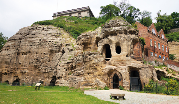 Sandstone caves in the centre of Nottingham