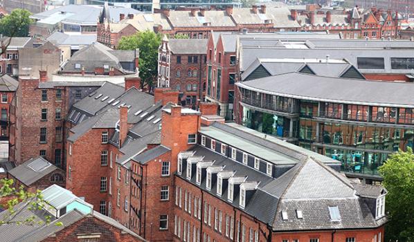 Nottingham city rooftops